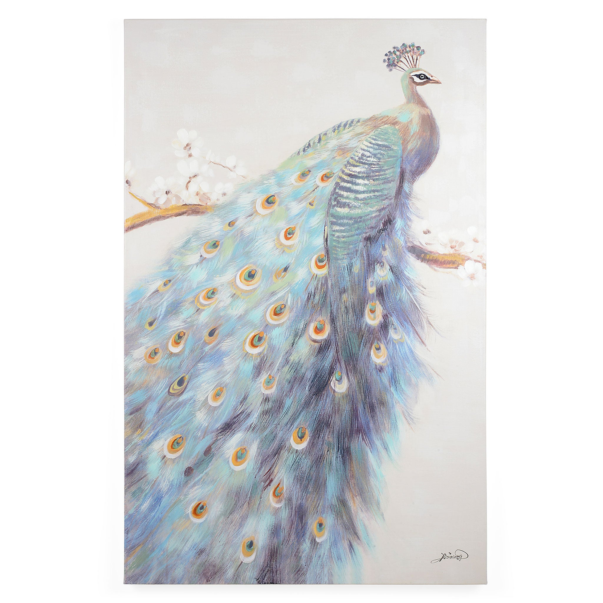 PEACOCK Tablou canvas 90x140cm