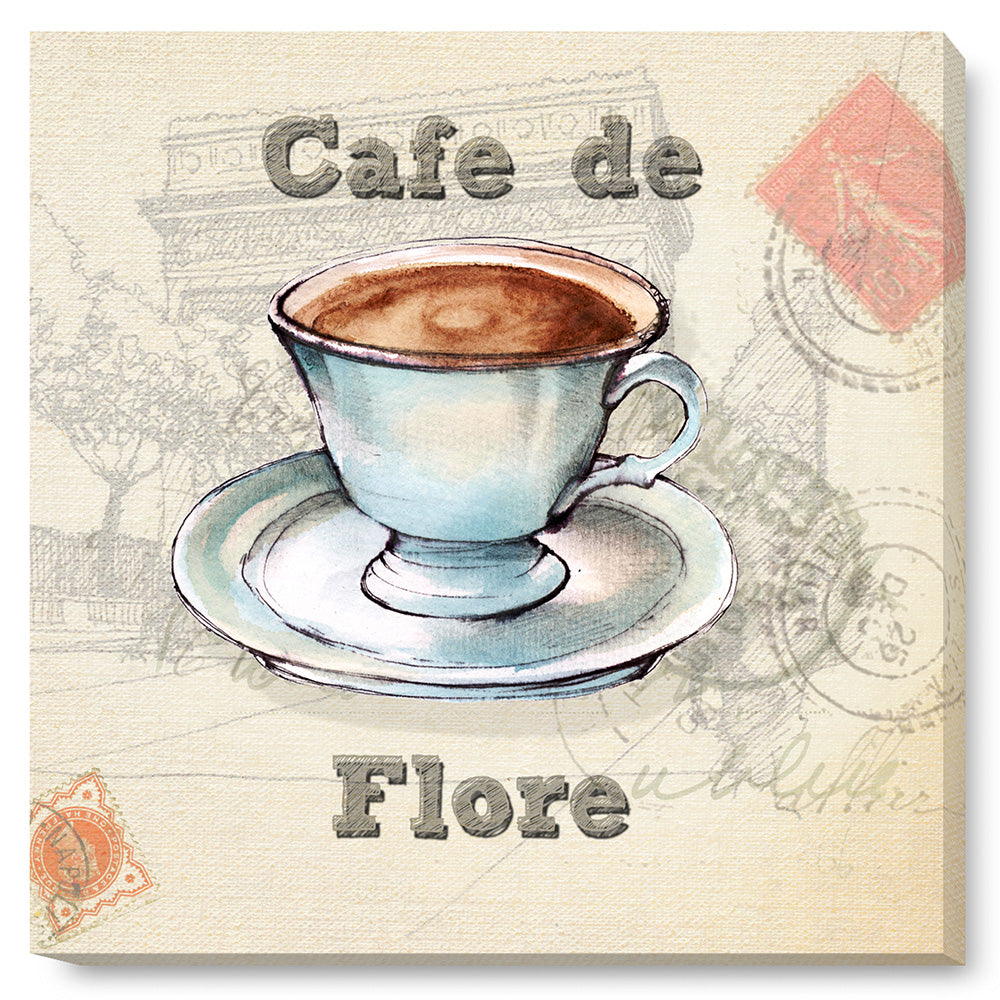 Tablou canvas 60x60 cm CAFE DE FLORE