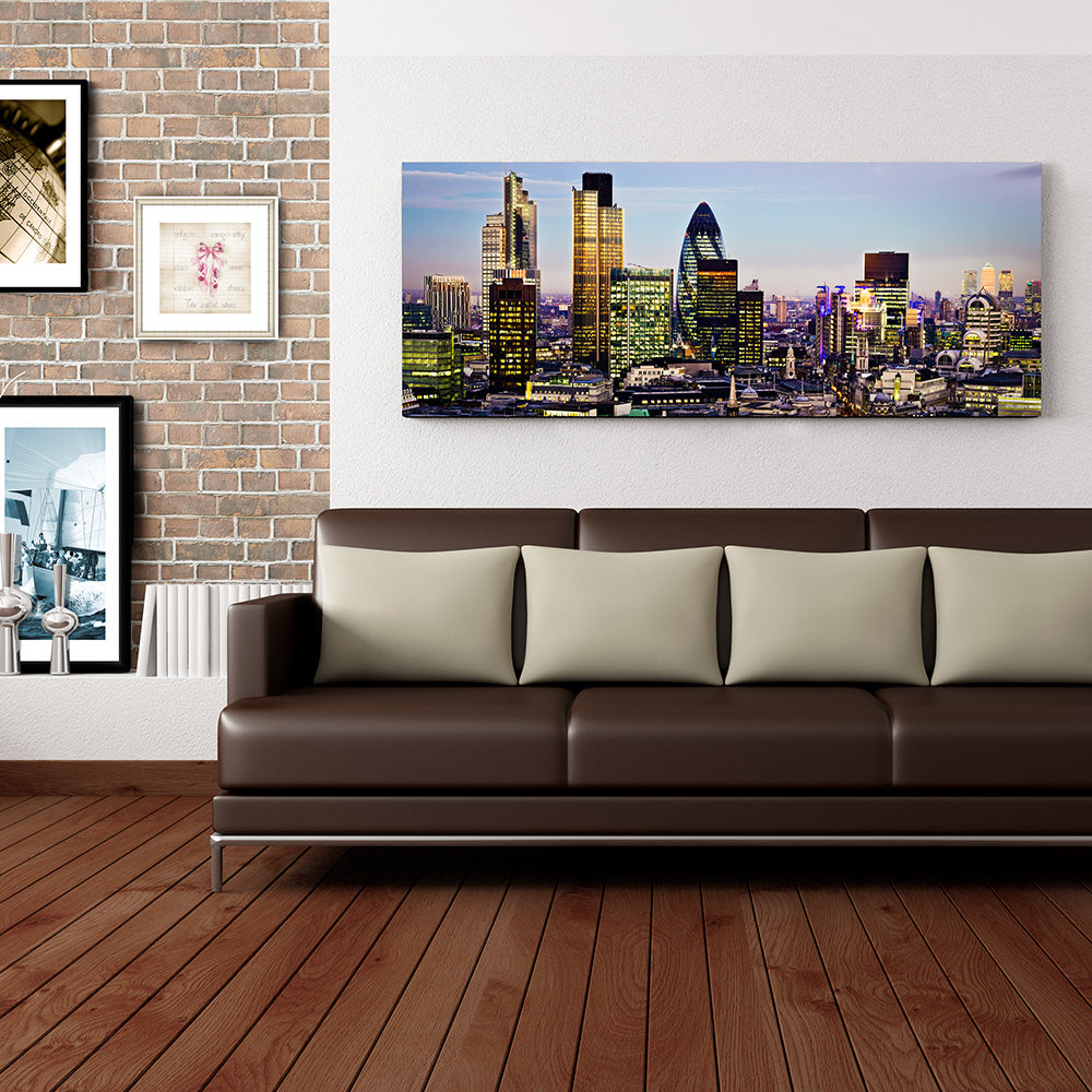 LONDON AT DAWN Tablou sticla 125x50 cm