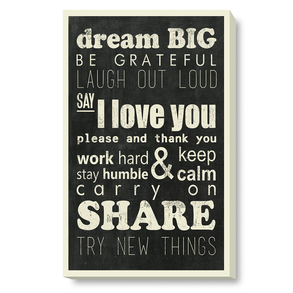 Tablou canvas 50x80 cm MOTIVATIONAL SIGN II