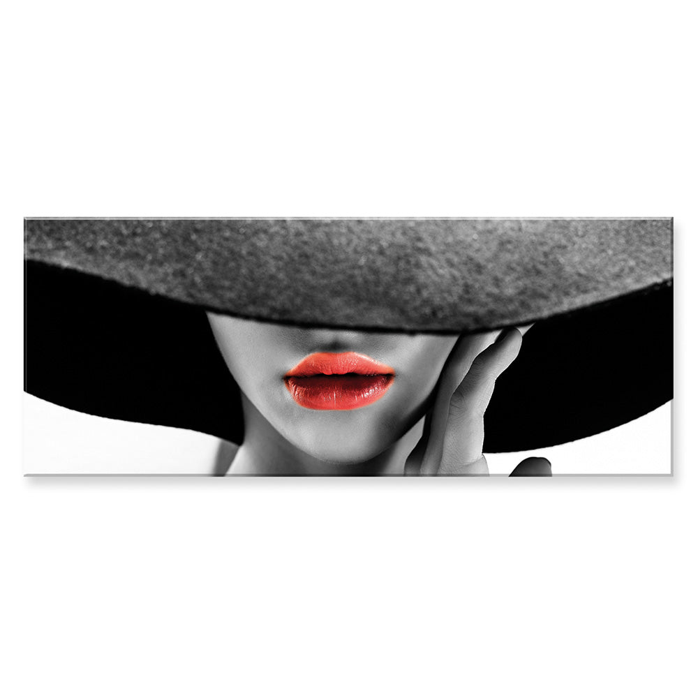 Tablou canvas 50x140 cm RED LIPS