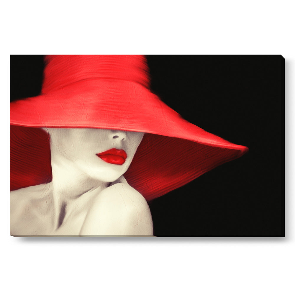 Tablou canvas 90x135 cm RED LIPS PAINTING