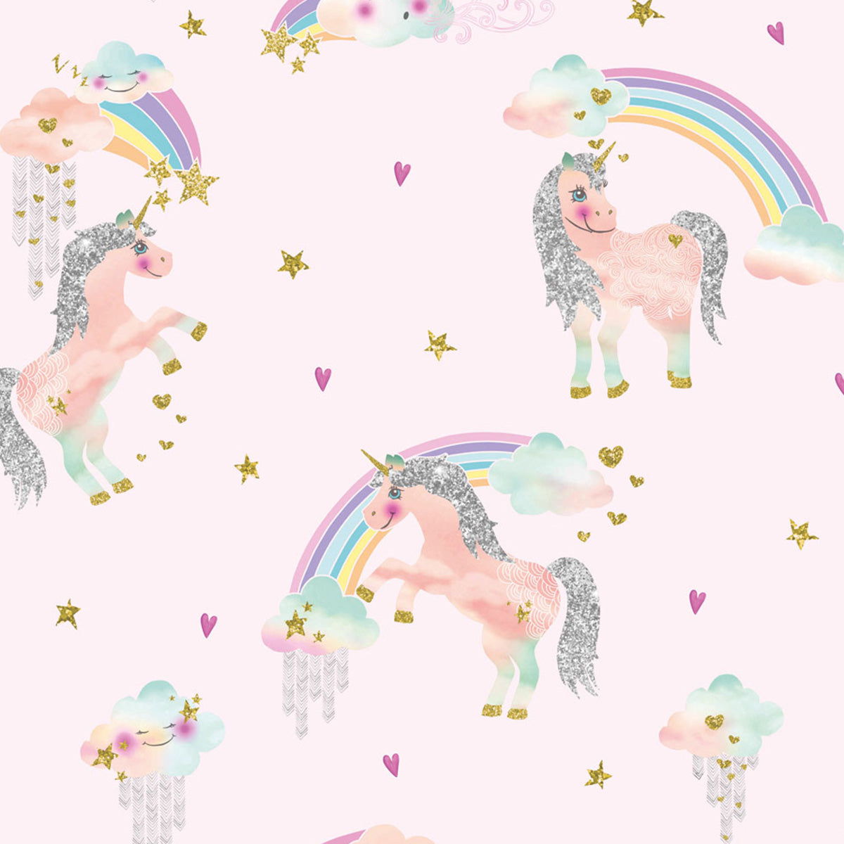 Tapet UNICORN RAINBOW