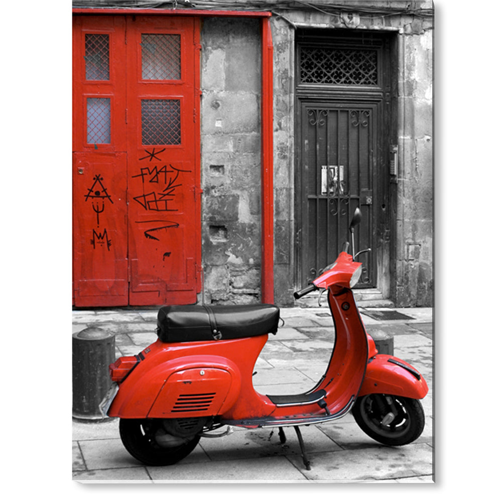 Tablou canvas 60x80 cm RED ITALIAN SCOOTER