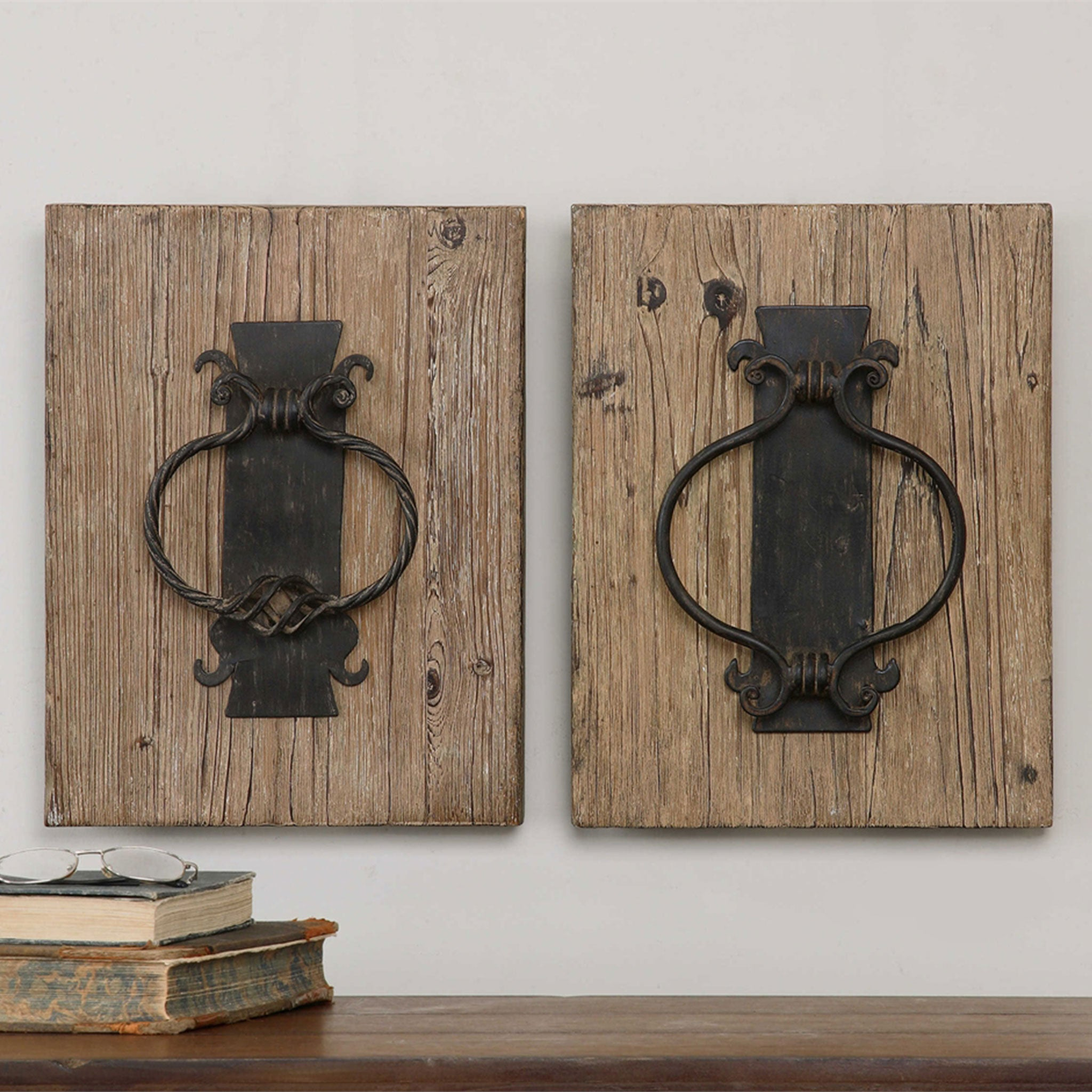 RUSTIC DOOR KNOCKERS Set 2 decoratiuni perete
