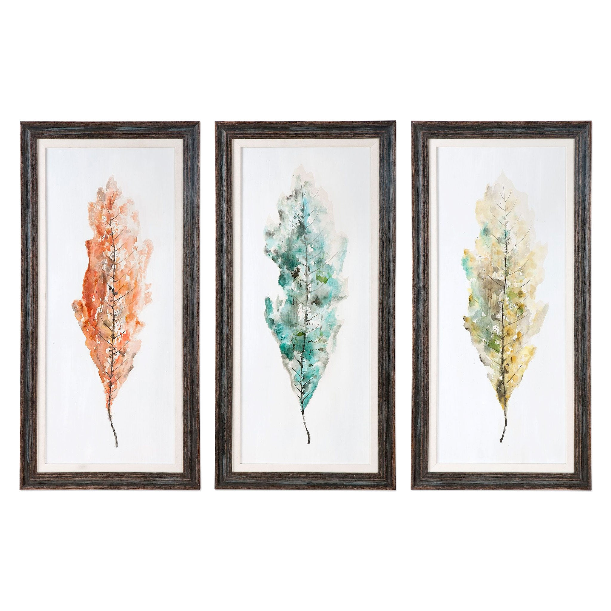 TRICOLOR LEAVES Set 3 tablouri