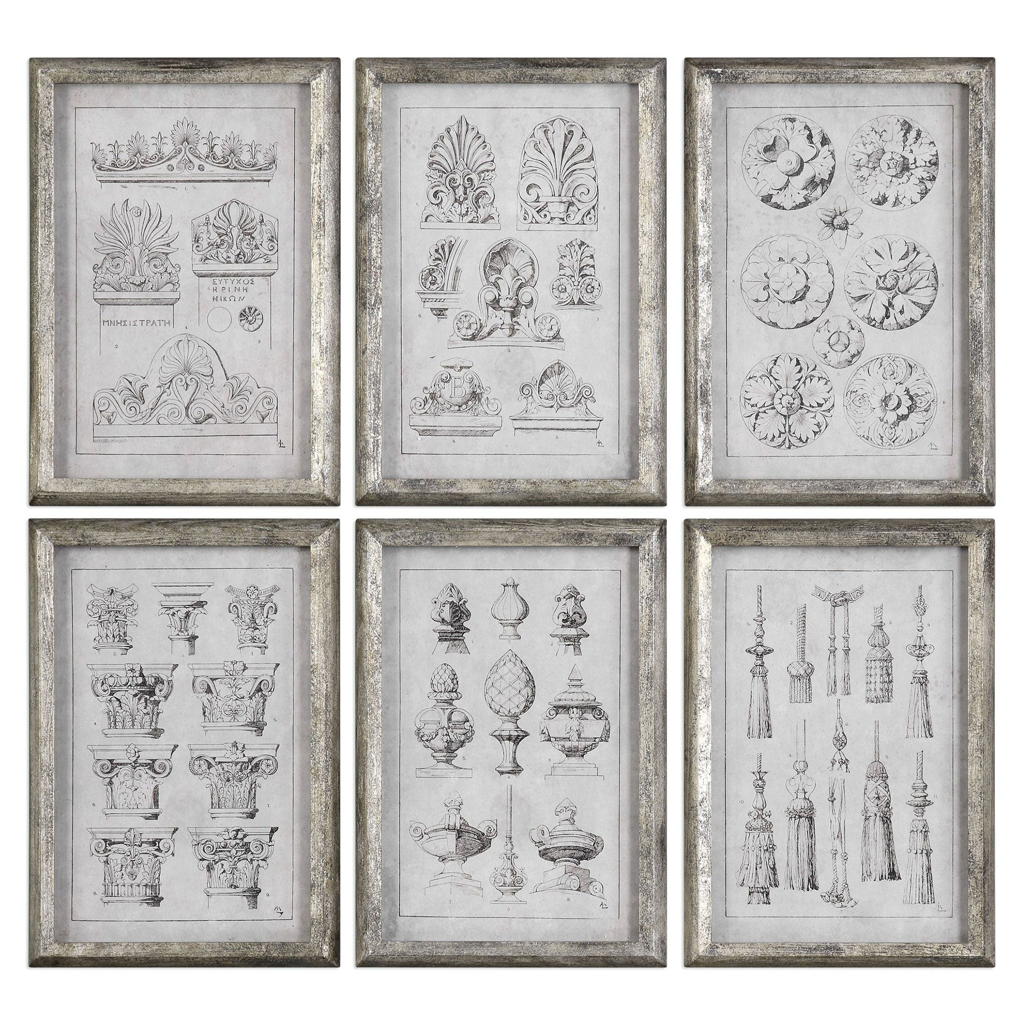 ARCHITECTURAL ACCENTS Set 6 tablouri