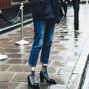 3 Ways to Wear Sheer and Sparkle Socks
