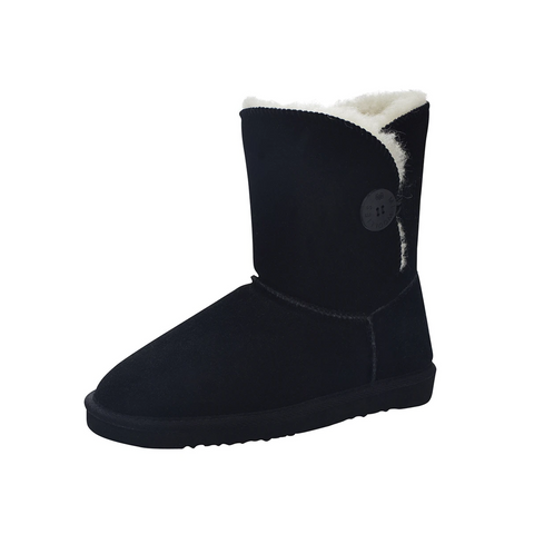 Women's Button Boot Black