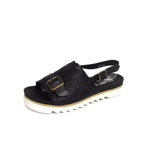 Dina Black Embossed