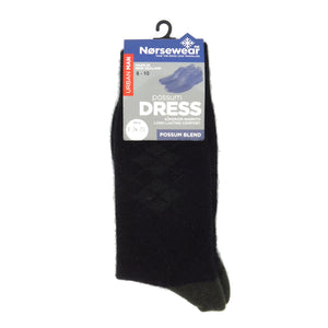 Norsewear Possum Argyle Dress Socks Green