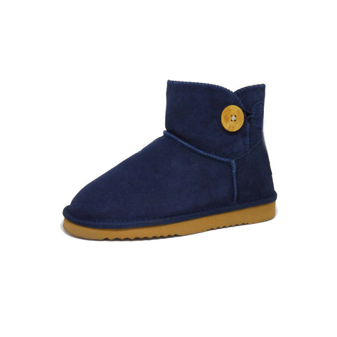 Button Boot Mini Navy