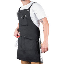 Load image into Gallery viewer, Professional Grade Apron for Men and Women (Black Cotton)