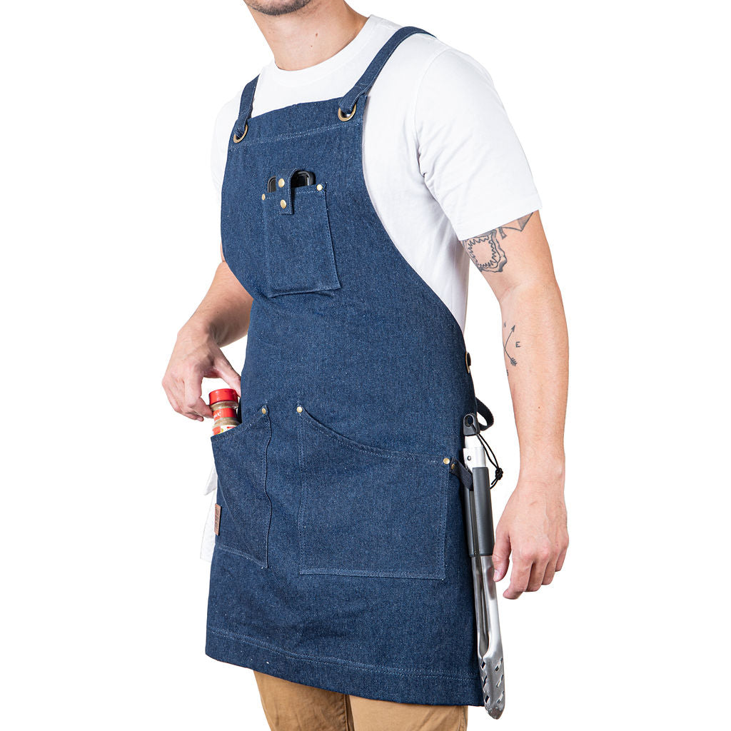 Professional Grade Apron for Men and Women (Blue Denim)