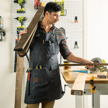 Load image into Gallery viewer, Heavy Duty Waxed Canvas Shop Apron Deluxe Edition (Grey / Slate)