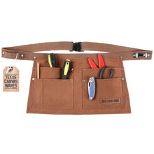 Load image into Gallery viewer, 5-Pocket Waist Apron with Hammer Loop, Tape Measure Clip