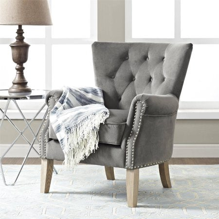 BHG Rolled Arm Accent Chair (Grey) - NEW!