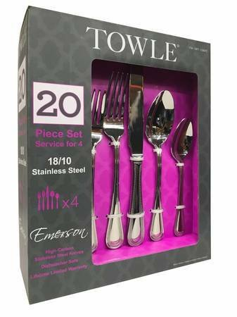 Towle (20) Piece Silverware Set (Stainless Steel) - NEW!
