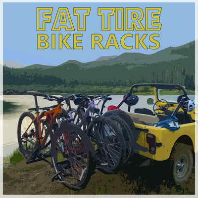See our line of hitch mounted bike racks ideal for fat tire or e-bikes