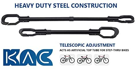 KAC Overdrive Quick Release Bike Frame Mount Telescoping Bar Adapter