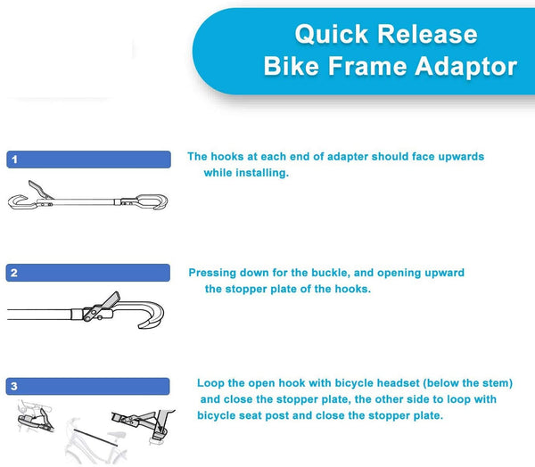 KAC Overdrive Bike Frame Mount Telescoping Bar Adapter
