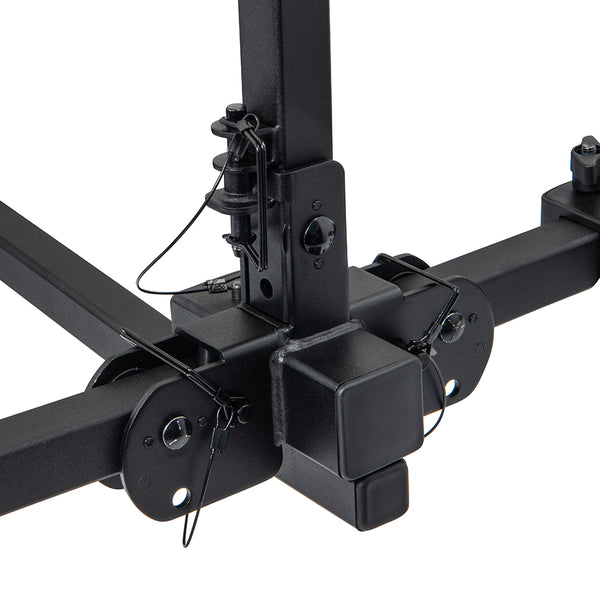 E2 Platform Hitch Mounted Bike Rack - 2 Bike Carrier For 1.25 inch or 2 inch Hitch Receivers (Adapter Included)