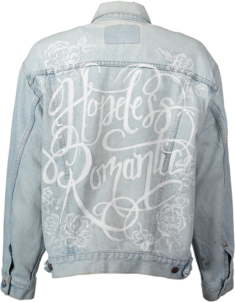 A collection of sustainable, exclusive, vintage denim jackets for the bride