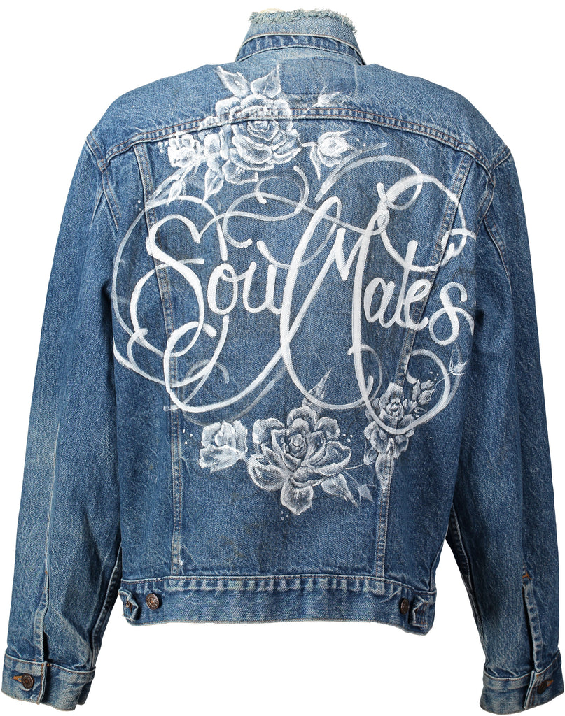 'Soumates' Hand painted vintage jacket for the bride