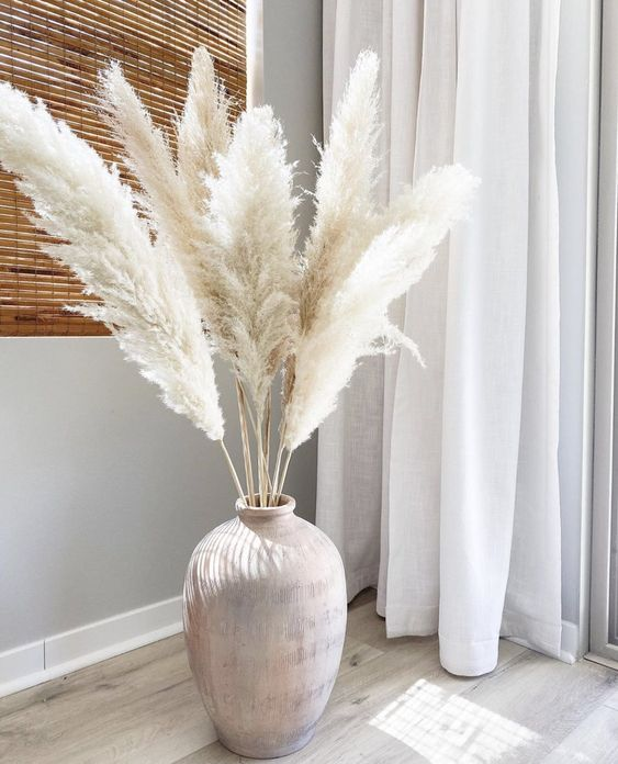 Best Large Snow White Pampas Grass Decoration Accessories 2021