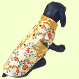 red floral and ivory dog sherwani vest