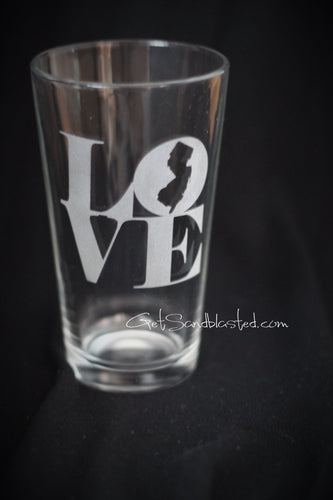 LOVE NJ pint glass
