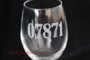 ZIP Code/Area Code wine glass
