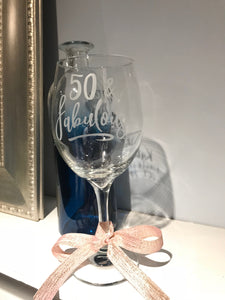 40 or 50 & Fabulous wine glass