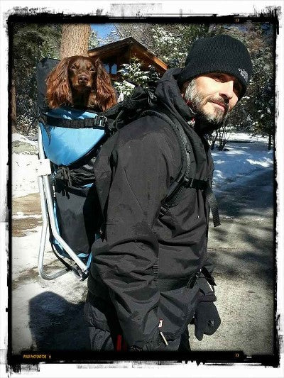 Dog carrier backpack for dachshund