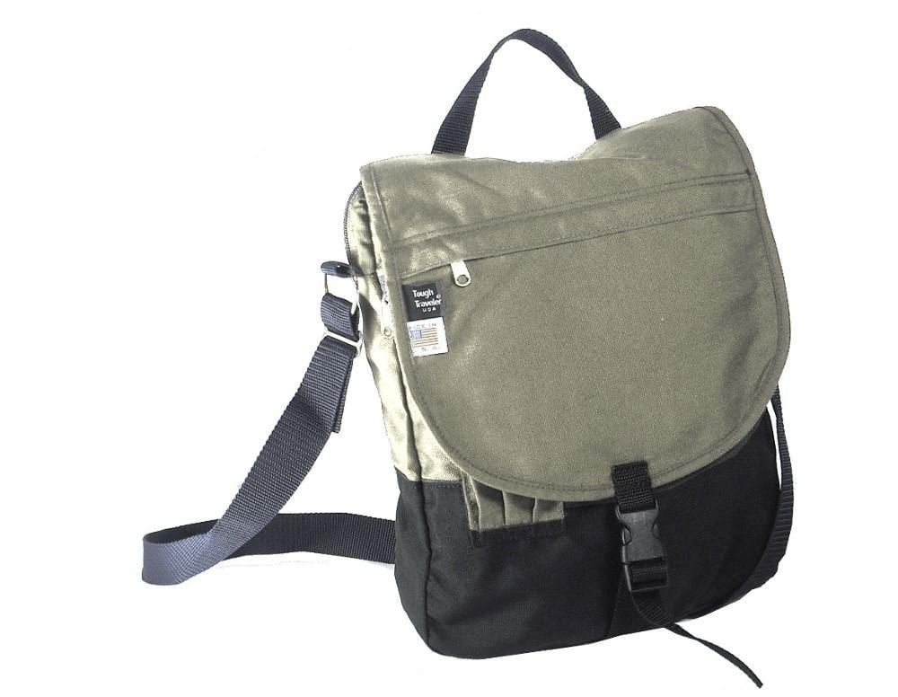 Made in USA 1000 d. Cordura Flapped Messenger Bag