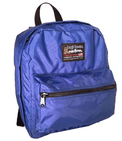 Blue backpack for elementary school made in USA