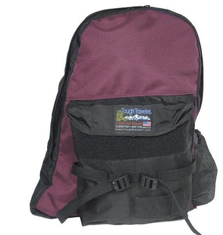 Made in USA burgundy backpack for school