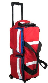 Wheeled medical oxygen tank bag