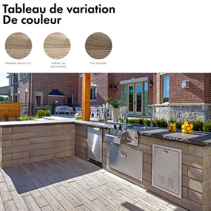Mur et bordure Borealis Double face