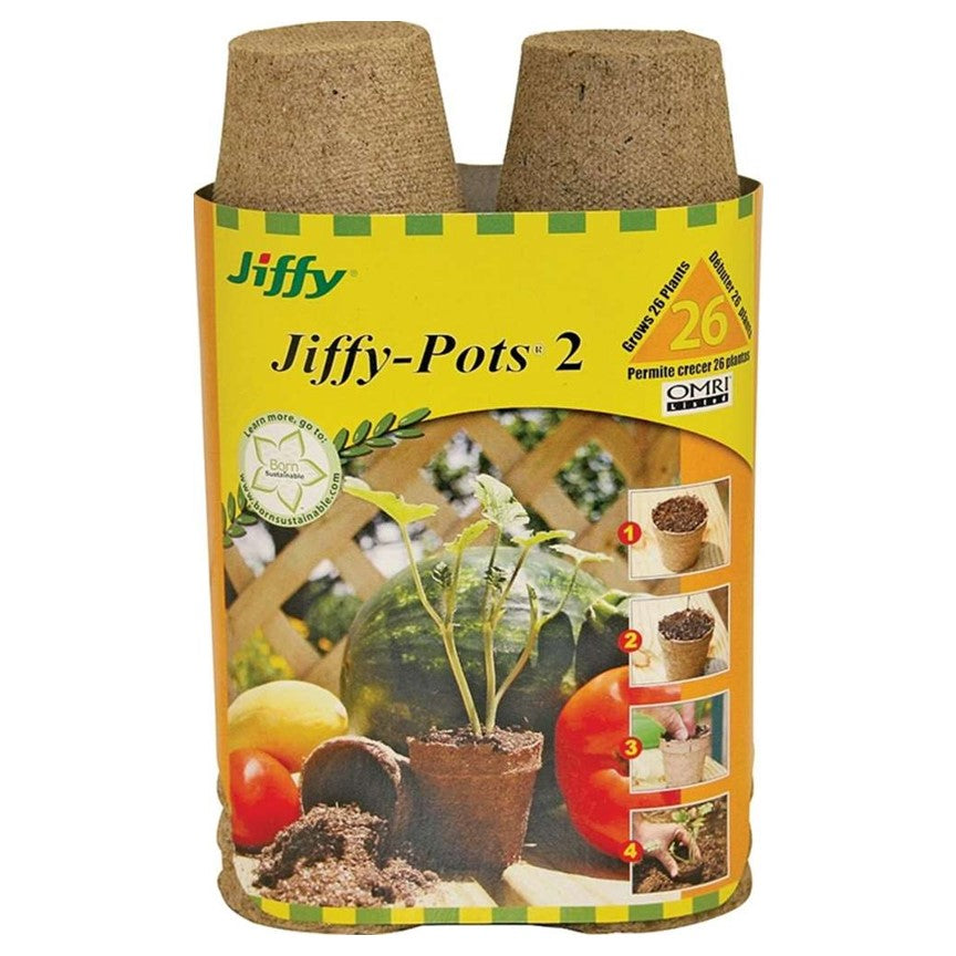 Pot Jiffy 2 pouce paquet de 26