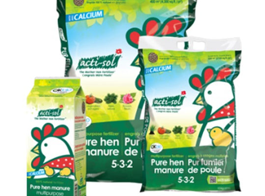 Actisol - Engrais naturel à usages multiples (pur fumier de poule) 5-3-2