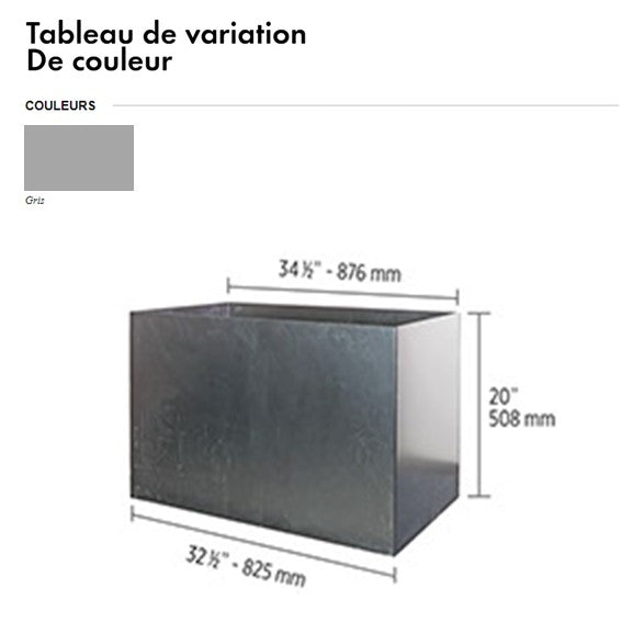 caisson pour Foyer rectangle