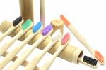 Bamboo wood toothbrushes 10 pcs. Ecologically Sustainable Environmentally Friendly