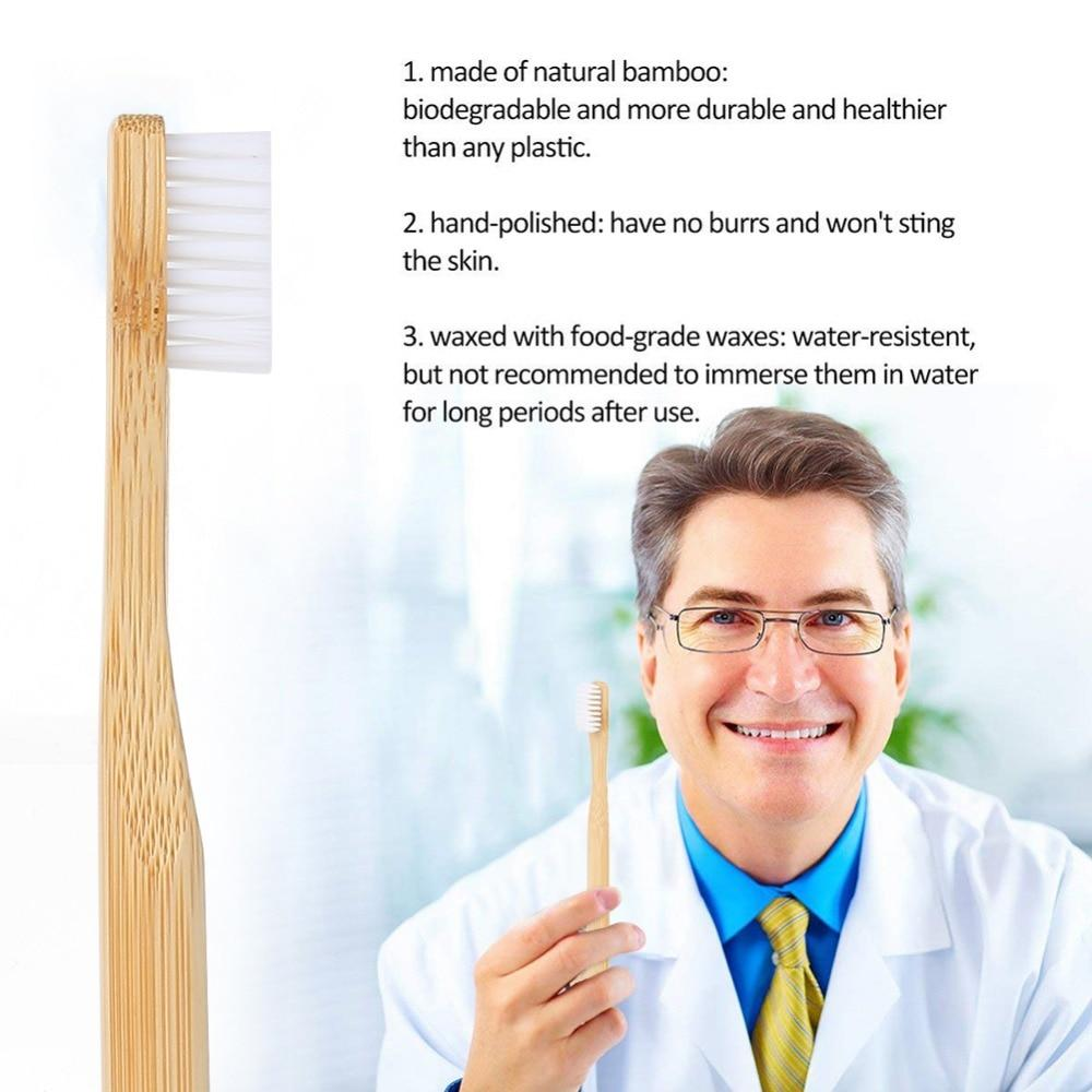 Dentist recommends Bamboo wood toothbrushes 10 pcs. Ecologically Sustainable Environmentally Friendly