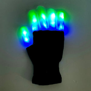 LED Leucht-Handschuhe Party Disco Outdoor
