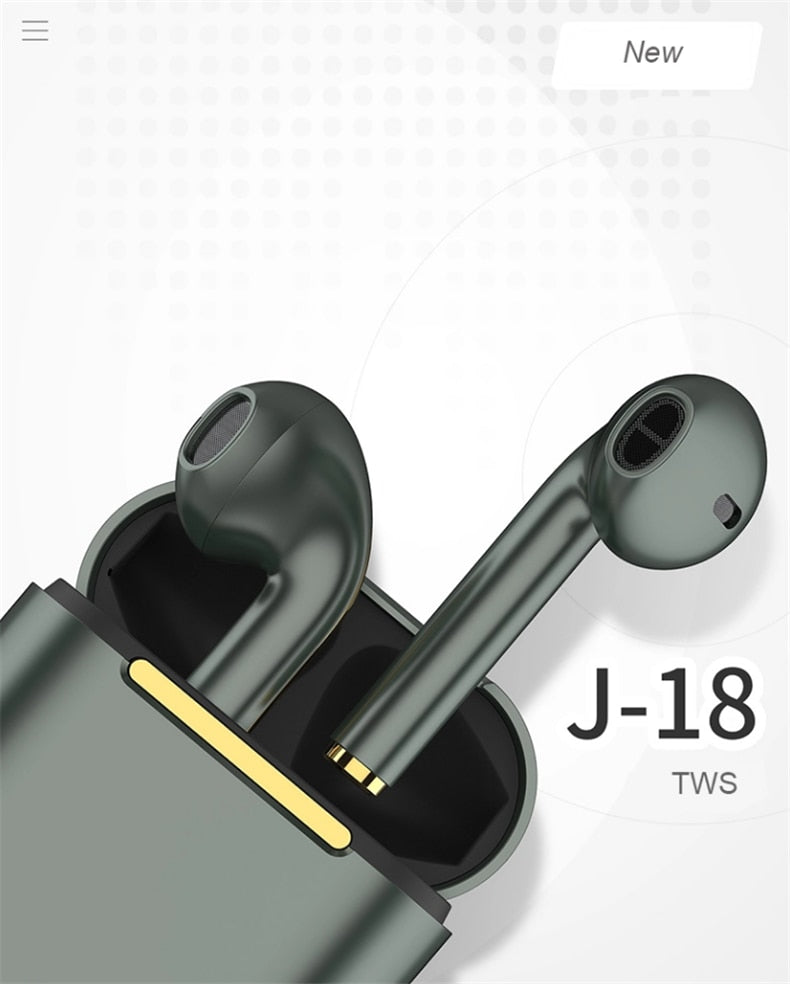 J18 TWS Bluetooth Kopfhörer Touch Headsets Wireless Stereo Bluetooth 5.0 Lightning Sport