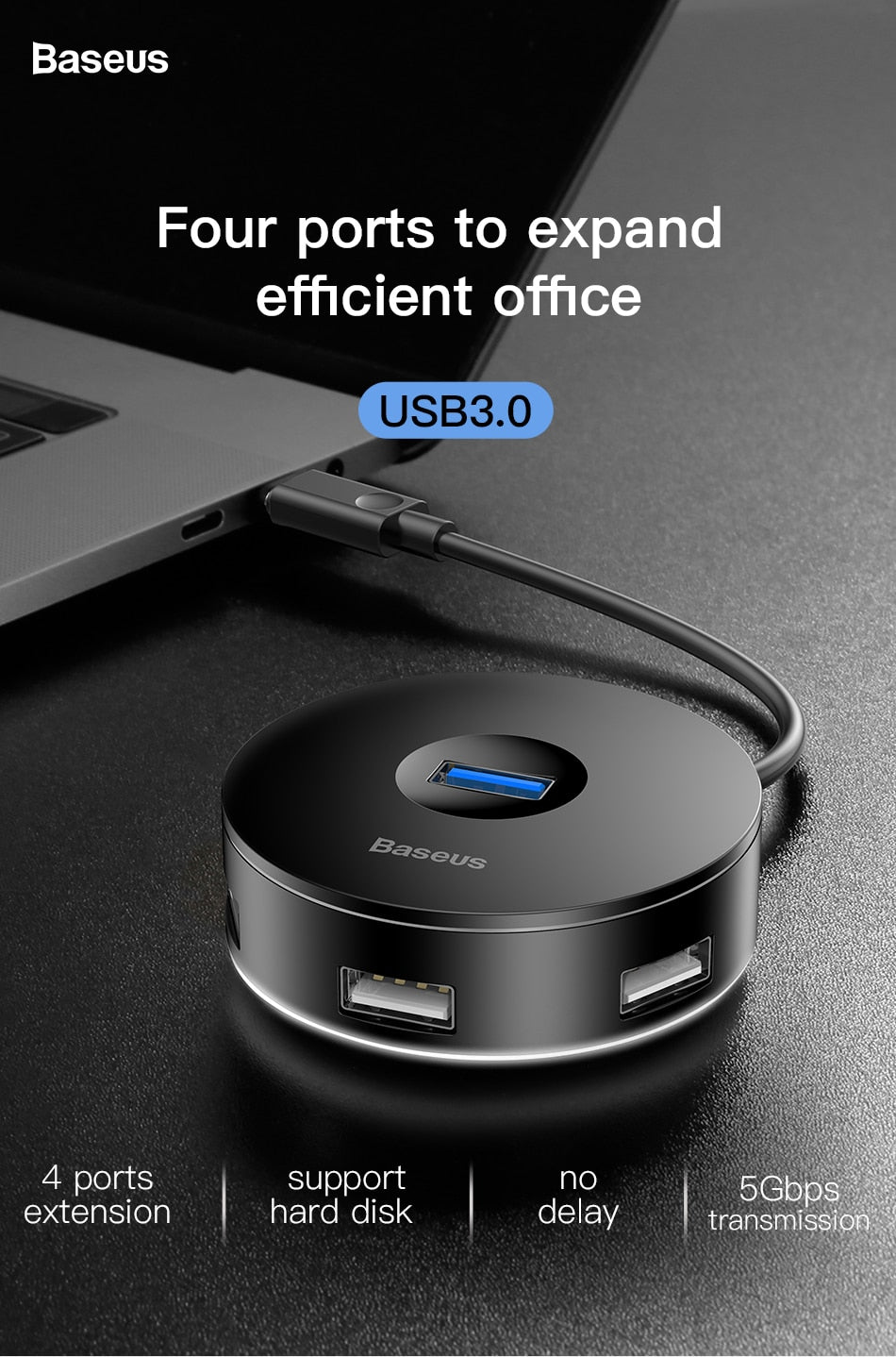 USB 3.0 / Type C HUB to USB3.0 + 3 USB2.0 HUB Adapter für Computer und Laptops
