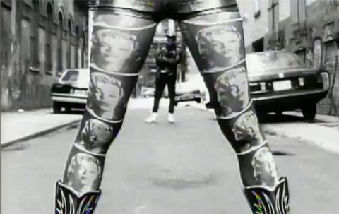 Screencap from Kool Thing music video, 1990