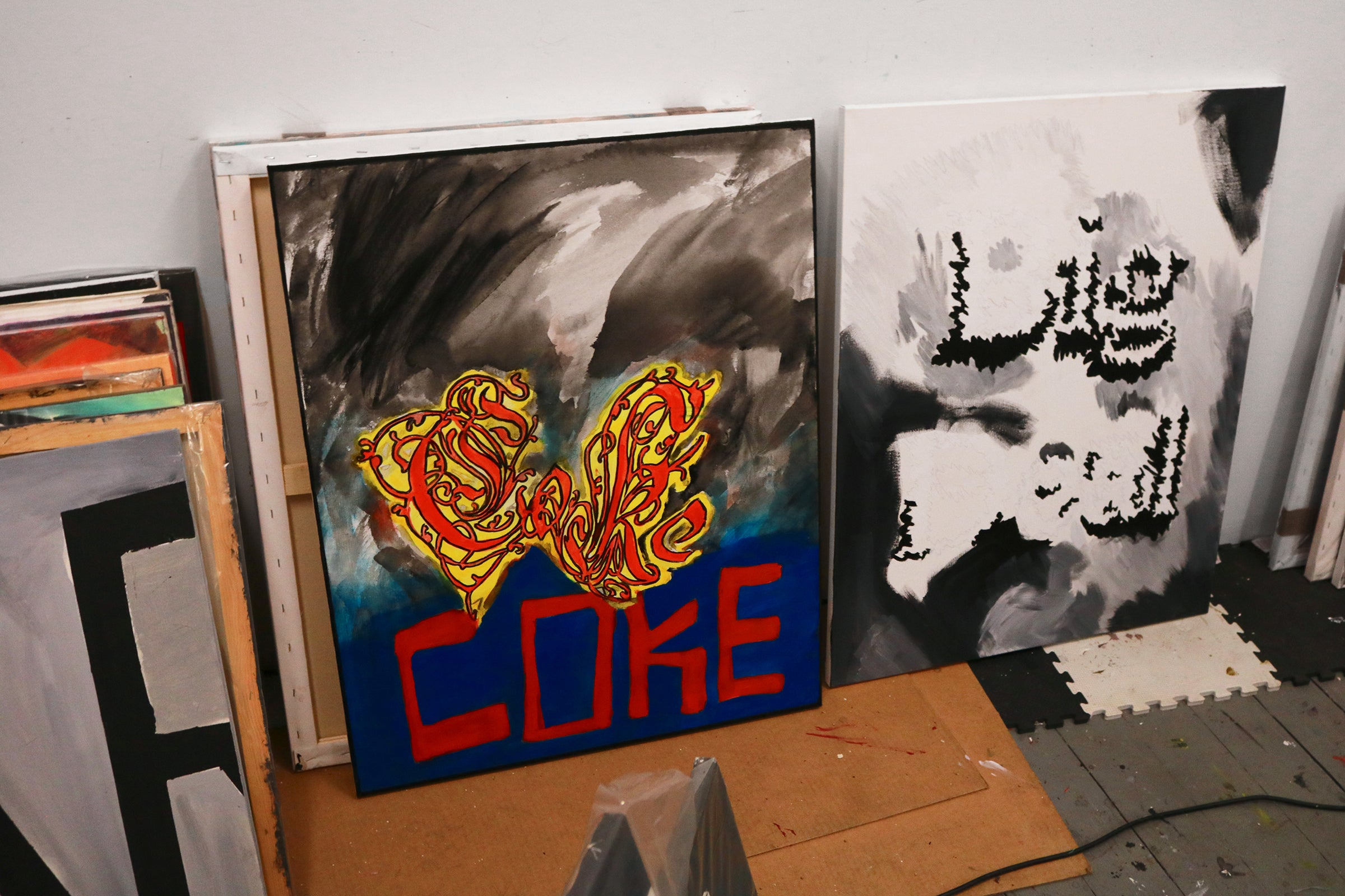 Coke painting, photo by Rouchka Bourquelot
