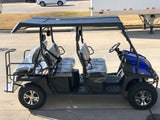 Hulk Limo gas golf cart, blue